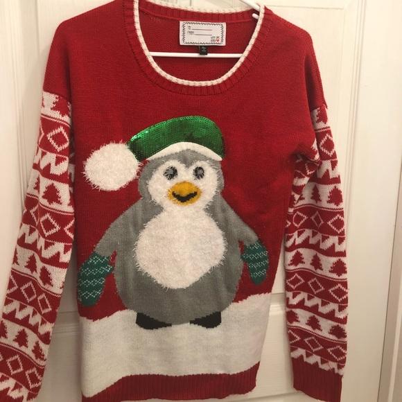 penguin christmas sweater
